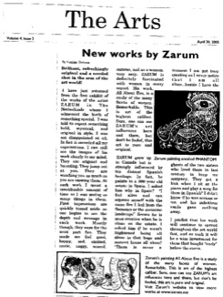 Zarum-Art-Press-The=Arts-Article-New-Works-by-Zarum-newspaper-article